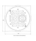Sumidero blanco Weltico para Liner/hormigón