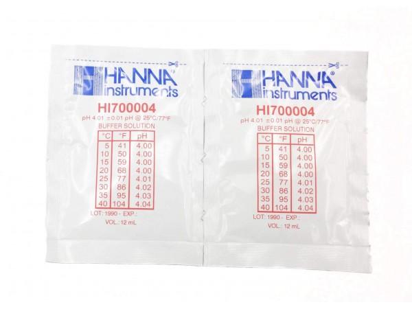 Solución Tampón Hanna pH 4,01 ( bolsas de 20 ml)