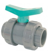 Válvula PVC de bola encolar (maneta verde)