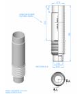 Tubo pasamuros boquilla oscilante Astralpool