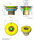 Boquilla impulsión Multiflow AstralPool para piscinas liner (enroscar)