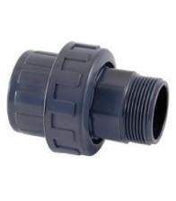 Enlace PVC 3 piezas M-H (roscar-encolar)