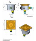 Caja conexiones de superficie para focos de piscina