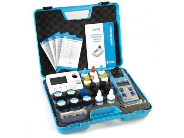 Turbidímetro y Fotómetro para Cloro Libre-Total-pH-Ácido Cianúrico