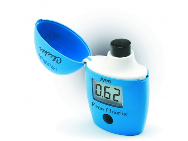 Medidor digital de cloro en piscinas