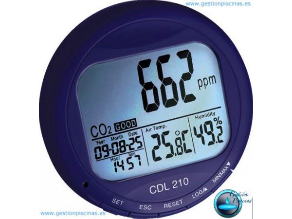 Medidor de CO2 para piscinas.