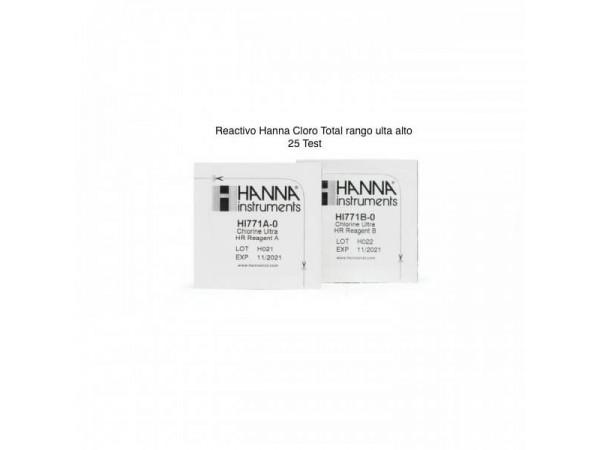 Reactivo Hanna Cloro Total Rango Alto (0 a 500 mg)