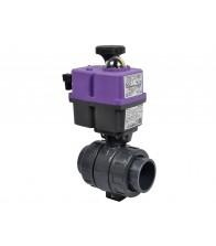Válvulas CH de bola PVC-U con actuador eléctrico (encolar)