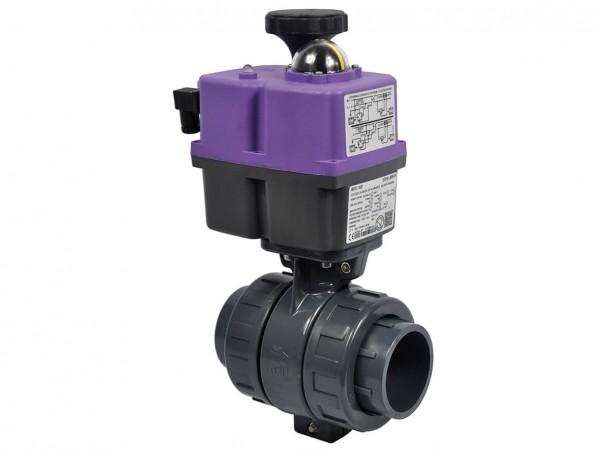 Válvulas CH de bola PVC-U con actuador eléctrico