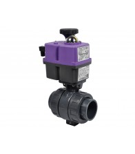Válvulas CH de bola PVC-U con actuador eléctrico (roscar)