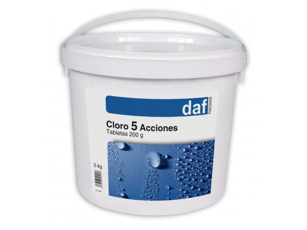Cloro Pastillas 5 efectos DAF