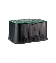 Arqueta rectangular jumbo con tapa de cierre mediante tornillo