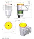 medidas Skimmer boca standard Astralpool