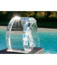 Cascada Curva transparente para Piscinas