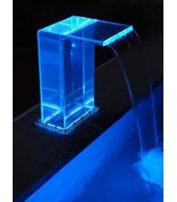 Cascada Recta transparente led para Piscinas