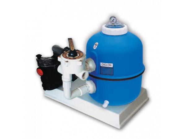 Monobloc filtro Ciclón y bomba Bravia para piscinas