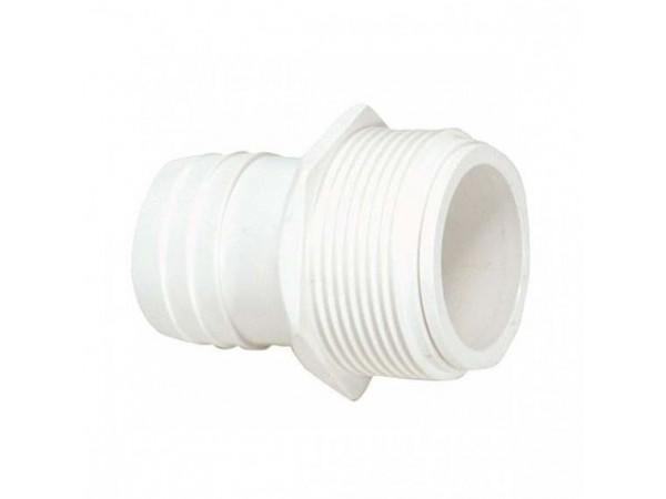Racord roscado para conexión de manguera limpiafondos