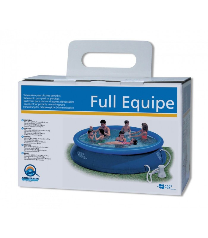 Full equipe tratamiento para piscinas desmontables o mini for Tratamiento para piscinas