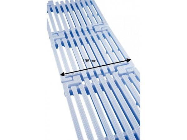 Placa de rejilla longitudinal para rebosadero