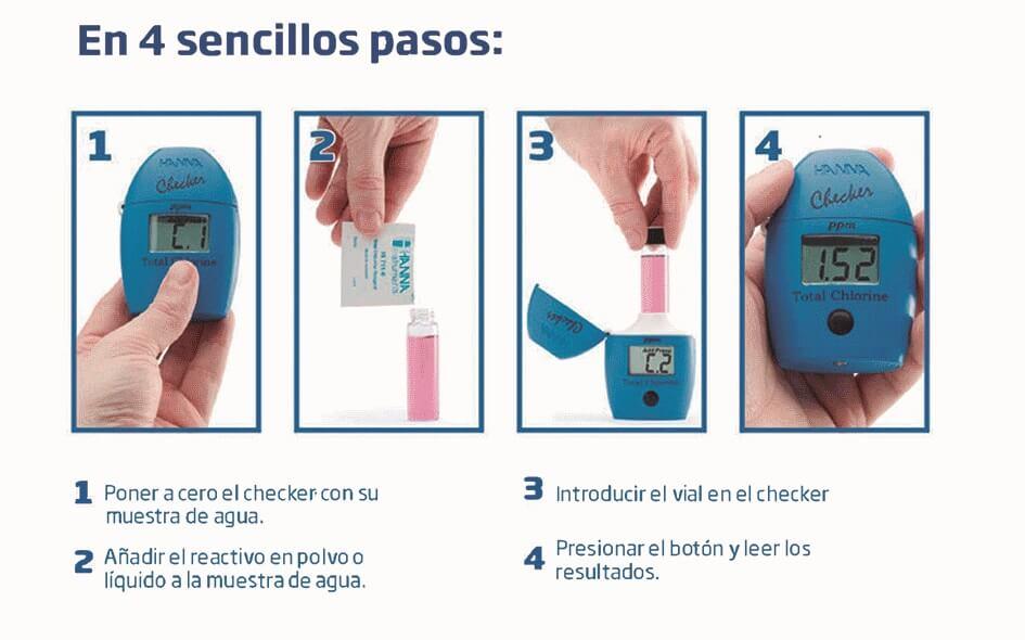 Como utilizar el Medidor de cloro digital Checker HI701