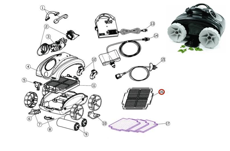 Panel Filtrante Robot Limpiafondos Qualer
