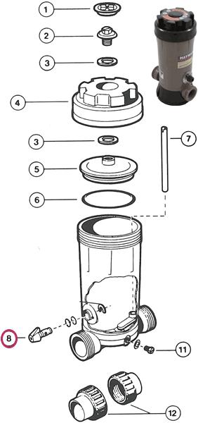 Valvula dosificador pastillas Hayward