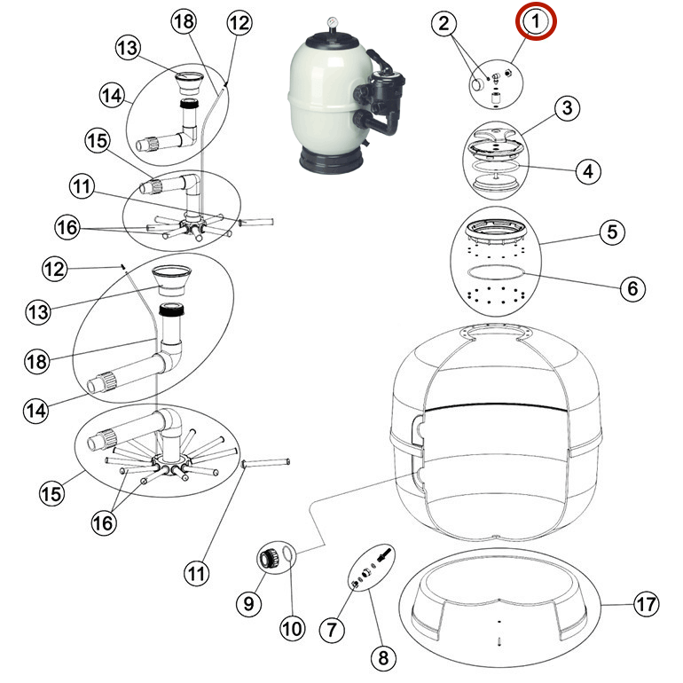 Manómetro Filtro Aster Astralpool