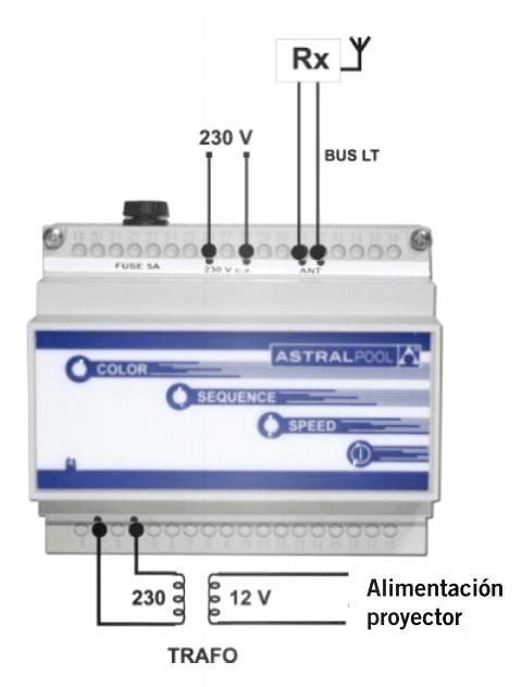 Instalación Modulador receptor Astralpool Lumiplus