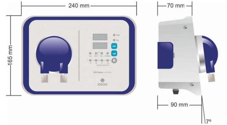 Bomba dosificadora de pH Idegis Serie 200