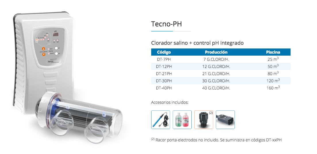 Modelos clorador salino Idegis DT-PH