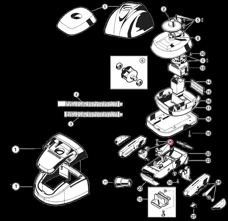Kit rodamientos limpiafondos Hayward Navigator