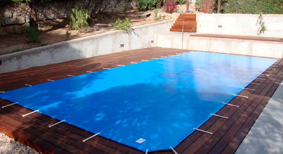 Lona para cubrir piscinas